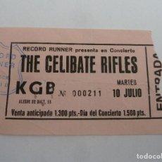Entradas de Conciertos: ENTRADA ORIGINAL ANTIGUA CONCIERTO THE CELIBATE RIFLES SALA KGB BARCELONA. Lote 117439823