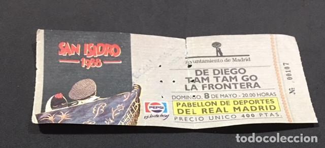 ENTRADA ORIGINAL DEL CONCIERTO DE TAM TAM GO LA FRONTERA DE DIEGO PABELLON REAL MADRID 8 MAYO 1988 (Música - Entradas)