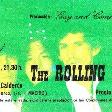 Entradas de Conciertos: ENTRADA ORIGINAL CONCIERTO ROLLING STONES VICENTE CALDERÓN 1982. Lote 117983507