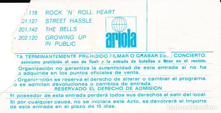Entradas de Conciertos: ENTRADA ORIGINAL LOU REED PLAZA DE TOROS LAS ARENAS BARCELONA 1980 - Foto 2 - 117986255