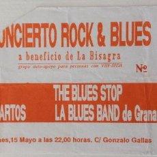 Entradas de Conciertos: TOTEM LOS LAGARTOS THE BLUES STOP LA BLUES BAND DE GRANADA ENTRADA CONCIERO. Lote 118454727