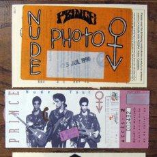 Entradas de Conciertos: ENTRADA CONCIERTO PRINCE, NUDE TOUR, FOTO PASE Y PASE AREA RESERVADA - BARCELONA, 25/7/1990-. Lote 165887841