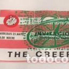 Entradas de Conciertos: ENTRADA INVITACION ORIGINAL DEL CONCIERTO DE THE CREEPS ROCK-CLUB MADRID 25 MAYO 1988. Lote 119001643