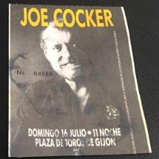 Entradas de Conciertos: ENTRADA ORIGINAL CONCIERTO DE JOE COCKER 16 JULIO PLAZA DE TOROS DE GIJON 1989. Lote 119019907