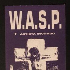 Entradas de Conciertos: W.A.S.P. ENTRADA SIN USAR. Lote 120006395