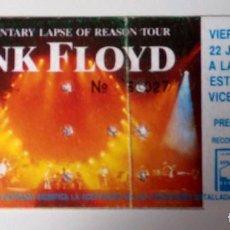 Entradas de Conciertos: ENTRADA CONCIERTO PINK FLOYD - ESTADIO VICENTE CALDERON (MADRID) - 22 JULIO 1988. Lote 151371933