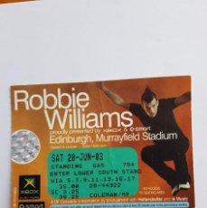 Entradas de Conciertos: ROBBIE WILLIAMS. Lote 125309415