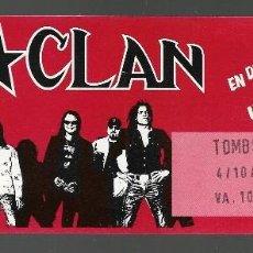 Entradas de Conciertos: ENTRADA DEL CONCIERTO DE M CLAN, UN BUEN MOMENTOUR, OCTUBRE 1996, TOMSTONE CLUB. Lote 125990715