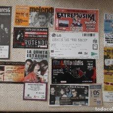 Entradas de Conciertos: LOTE DE 11 ENTRADAS DE GRUPOS ESPAÑOLES. Lote 126010551