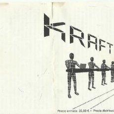 Entradas de Conciertos: KRAFTWERK ENTRADA LA RIVIERA MADID ABRIL 2004. Lote 126044863