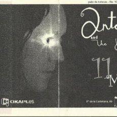 Entradas de Conciertos: ENTRADA ANTONY AND THE JOHNSONS MADRID MAYO 2009. Lote 126052815