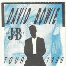 Entradas de Conciertos: DAVID BOWIE ENTRADA INVITACION CONCIERTO TOUR 1990 MADRID. Lote 198407625