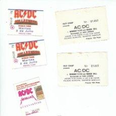 Entradas de Conciertos: AC-DC: METALLICA COLECCION DE 6 TICKETS DE ENTRADA-ESPAÑOLES-MUY BIEN CONSERVADOS-OPORTUNIDAD. Lote 221798267