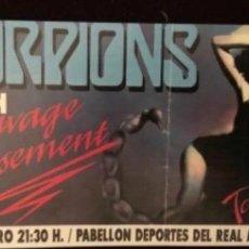 Entradas de Conciertos: SCORPIONS + VIXEN - ENTRADA CONCIERTO SAVAGE AMUSEMENT TOUR '88 PABELLÓN REAL MADRID 27/1/89. 7 X 15. Lote 128393427