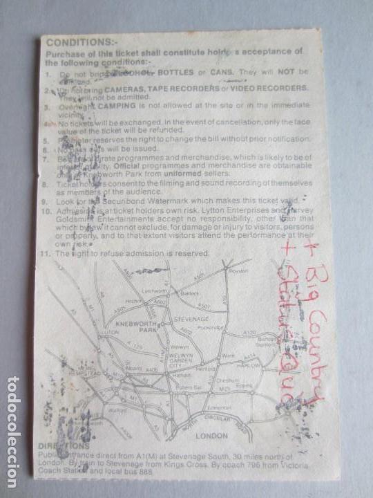 Entradas de Conciertos: 1986- ENTRADA ÚLTIMO CONCIERTO DE QUEEN. FREDDY MERCURY. ORIGINAL. LONDRES - Foto 2 - 128610403