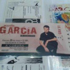 Billets de concerts: ENTRADA CONCIERTO ( MANOLO GARCIA ) 25 DE MAYO GIRA 2001 A CORUÑA PLASTIFICADA. Lote 130011371