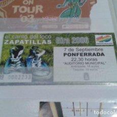 Entradas de Conciertos: ENTRADA CONCIERTO ( EL CANTO DEL LOCO ) ZAPATILLAS 7 - 9 - GIRA 2006 AUDITORIO MUNICIPAL PONFERRADA. Lote 130011931