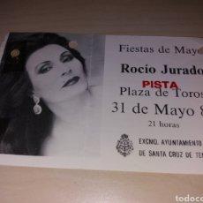 Entradas de Conciertos: ANTIGUA ENTRADA ROCÍO JURADO - TENERIFE 1987. Lote 130910032