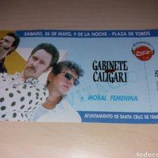 Entradas de Conciertos: ANTIGUA ENTRADA GABINETE GALIGARI - TENERIFE. Lote 131045276