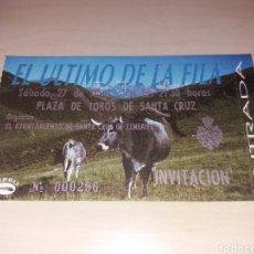 Entradas de Conciertos: ANTIGUA ENTRADA EL ÚLTIMO DE LA FILA - TENERIFE. Lote 131511189