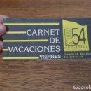 Entradas de Conciertos: ANTIGUO TALONARIO DE 7 CONCIERTOS, ENTRADA, STUDIO 54 BARCELONA. ORIGINAL.. Lote 132339983