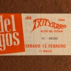 Entradas de Conciertos: THE DEL FUEGOS. ENTRADA COMPLETA CONCIERTO EN SALA TXITXARRO (DEBA). AÑOS 90.. Lote 132434558