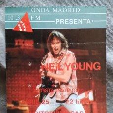 Entradas de Conciertos: NEIL YOUNG - ENTRADA DE CONCIERTO. MADRID 1987. Lote 132988090
