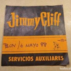 Entradas de Conciertos: PASE BACKSTAGE-JIMMY CLIFF- ZELESTE DR. MUSIC-6/5/88. Lote 133076434
