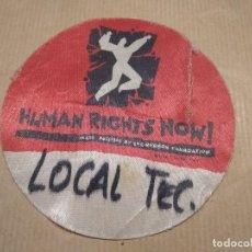 Entradas de Conciertos: PASE BACKSTAGE TÉCNICO-EN TELA-A CONCERT FOR HUMAN RIGHTS NOW-BARCELONA-USADO. Lote 133076890