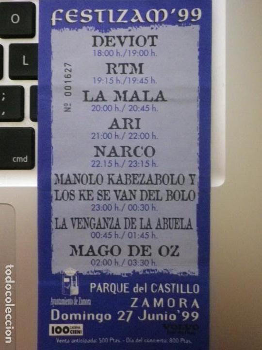 ENTRADA FESTIZAM 99 ZAMORA MAGO DE OZ MANOLO KABEZABOLO NARCO ARI LA MALA (Música - Entradas)