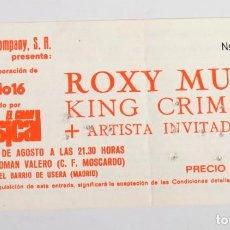 Entradas de Conciertos: ENTRADA ROXY MUSIC KING CRIMSON. ESTADIO ROMÁN VALERO MADRID. 23 DE AGOSTO DE 1982. Lote 135626522