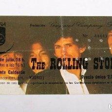 Entradas de Conciertos: ENTRADA DEL MÍTICO CONCIERTO DE LOS ROLLING STONES EN EL VICENTE CALDERÓN. 1982. Lote 135626786