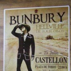 Entradas de Conciertos: HEROES DEL SILENCIO BUNBURY CARTEL GIRA HELLVILLE CONCIERTO CASTELLON TAMAÑO GIGANTE MODELO CLARO. Lote 205244780