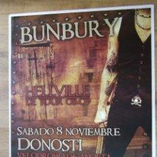 Entradas de Conciertos: HEROES DEL SILENCIO BUNBURY CARTEL GIRA HELLVILLE CONCIERTO SAN SEBASTIAN TAMAÑO GIGANTE OSCURO. Lote 205245122