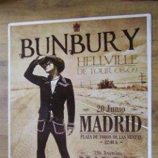 Entradas de Conciertos: HEROES DEL SILENCIO BUNBURY CARTEL GIRA HELLVILLE CONCIERTO MADRID TAMAÑO GIGANTE MODELO CLARO. Lote 205244347