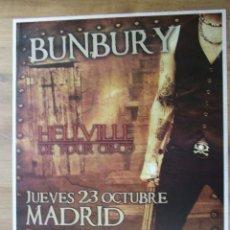 Entradas de Conciertos: HEROES DEL SILENCIO BUNBURY CARTEL GIRA HELLVILLE CONCIERTO MADRID TAMAÑO GIGANTE MODELO OSCURO. Lote 218307292
