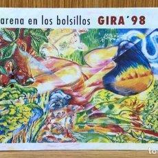 Bilhetes de Concertos: ENTRADA CONCIERTO MANOLO GARCÍA - GIRA 98 (ARENA EN LOS BOLSILLOS) - PLAZA DE TOROS DE SANTANDER. Lote 137145534