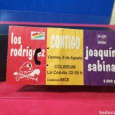Entradas de Conciertos: ENTRADA JOAQUÍN SABINA Y LOS RODRÍGUEZ CORUÑA 1996. Lote 138535729