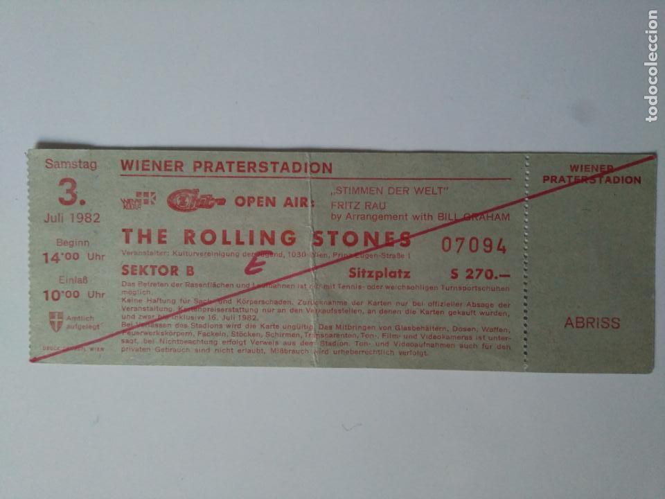 ENTRADA ROLLING STONES - WIENER PRATERSTADION - VIENA, AUSTRIA, 1982 (Música - Entradas)