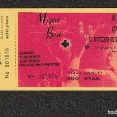Billets de concerts: MIGUEL BOSE: INCREIBLE ENTRADA DE CONCIERTO- TICKET ANTIGUO EN PTAS-NUMERO BAJO!!. Lote 139173642