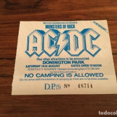 Billets de concerts: ENTRADA ANTIGUA MONSTERS OF ROCK - AC/DC DONINTONG PARK. Lote 139419662