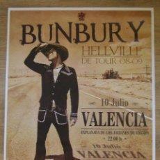 Entradas de Conciertos: HEROES DEL SILENCIO BUNBURY CARTEL GIGANTE GIRA HELLVILLE CONCIERTO SUSPENDIDO VALENCIA MODELO CLARO. Lote 205244685