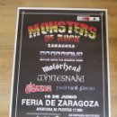 Entradas de Conciertos: SCORPIONS MOTORHEAD WHITESNAKE SAXON PRIMAL FEAR CONCIERTO MONSTERS OF ROCK ZARAGOZA . Lote 140473698