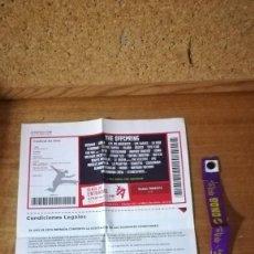 Entradas de Conciertos: ENTRADA Y PULSERA GETAFE EN VIVO 2011, THE OFFSPRING, ETC.... Lote 140515706