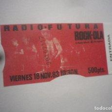 Billets de concerts: ENTRADA REPLICA RADIO FUTURA. Lote 141796554