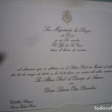 Billets de concerts: INVITACIÓN DE LA BODA REAL REPLICA. Lote 141797802