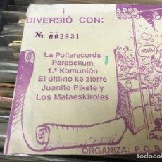 Entradas de Conciertos: ENTRADA CONCIERTO LA POLLA RÉCORDS PARABELLUM EL ÚLTIMO KE CIERRE. Lote 143151633