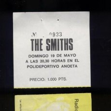 Entradas de Conciertos: THE SMITHS SAN SEBASTIÁN 1985 ENTRADA DEL CONCIERTO. ESTÁ SIN CORTAR. Lote 151632681
