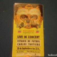 Entradas de Conciertos: ENTRADA ORIGINAL DE MICHAEL JACKSON EN EL ESTADIO TARTIERE DE OVIEDO 1992,GIRA DANGEROUS. Lote 143548886