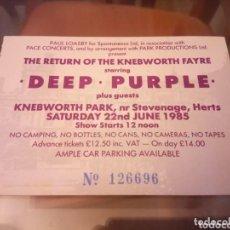 Entradas de Conciertos: DEEP PURPLE KNEBWORTH 85 UK ENTRADA. Lote 143706244